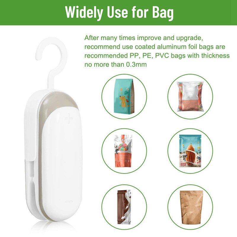 حقيبة صغيرة السدادة ، 2 في 1 سدادة حرارية والقاطع مع هوك ، المحمولة جهاز غلق أكياس الطعام ، يده حقيبة السدادة للمطبخ ، السفر