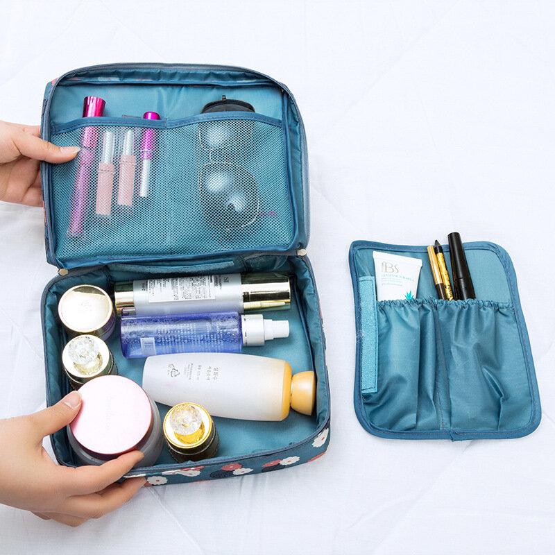 في الهواء الطلق متعددة الوظائف السفر حقيبة مستحضرات التجميل النساء لوازم التجميل المنظم مقاوم للماء تخزين الإناث يشكلون الحالات