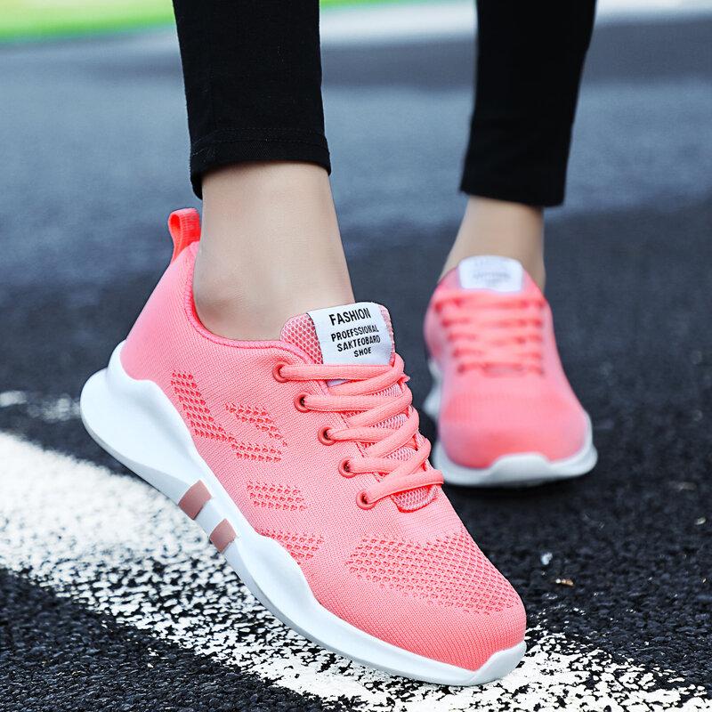 جديد ربيع الموضة سيدة حذاء كاجوال المرأة حذاء رياضة حذاء فاخر تنفس العلامة التجارية الشقق