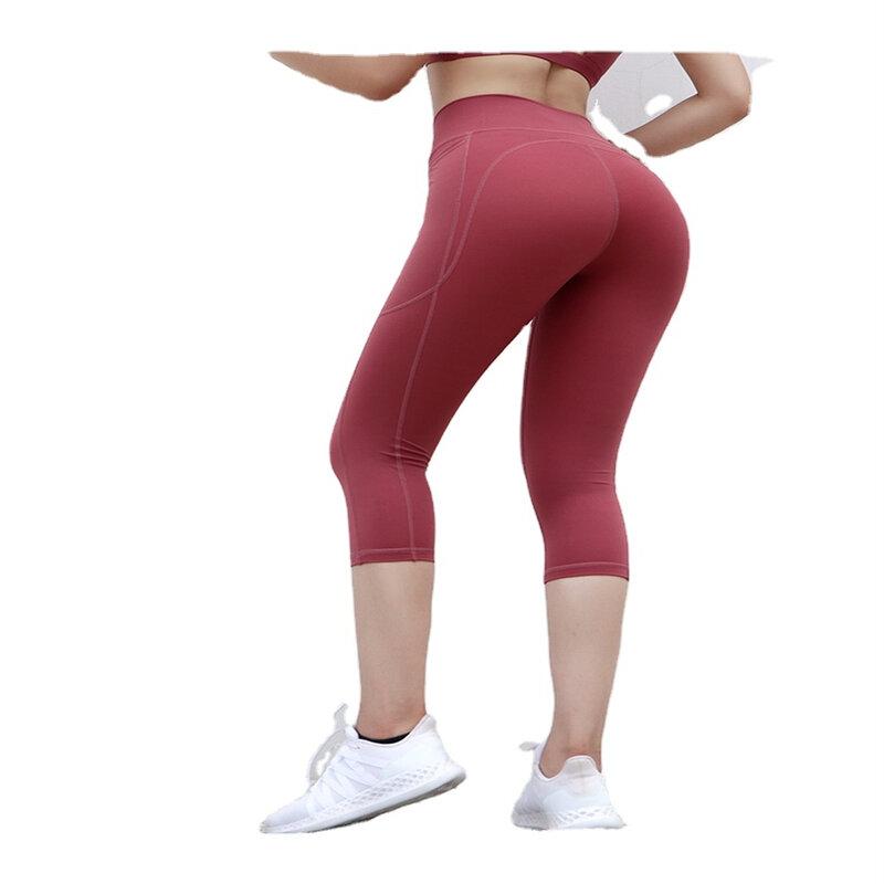 سعر المصنع المرأة تشغيل اليوغا السراويل Sweatpants التجفيف السريع سراويل رياضية تمتد ضيق اليوغا اقتصاص السراويل