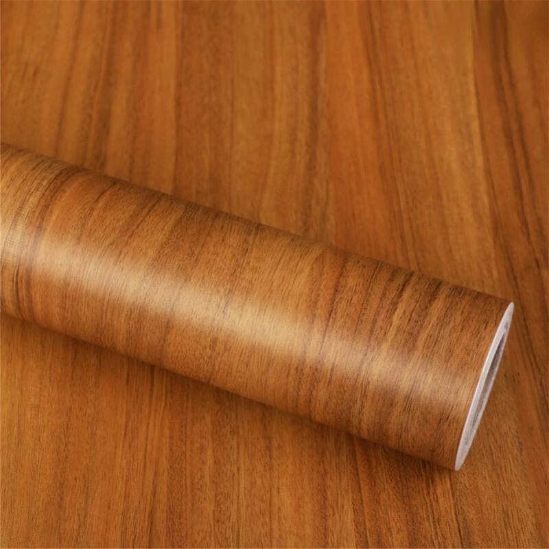 مقاوم للماء الفينيل الخشب الحبوب خلفية لفة ملصق ذاتي اللصق أبواب خزانة سطح المكتب أثاث عصري ورق حائط للزينة