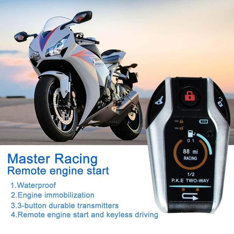 12 فولت 125DB المحرك عن بعد بدء دراجة نارية إنذار مكافحة سرقة اتجاهين مع التعريفي التحكم عن بعد الأمن