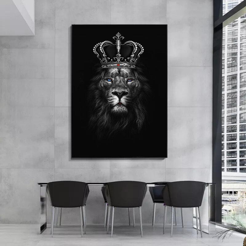 لوحة قماشية على شكل قرد أسد نمر بوستر للتدخين مجسم لصور ديكور المنزل لغرف المعيشة