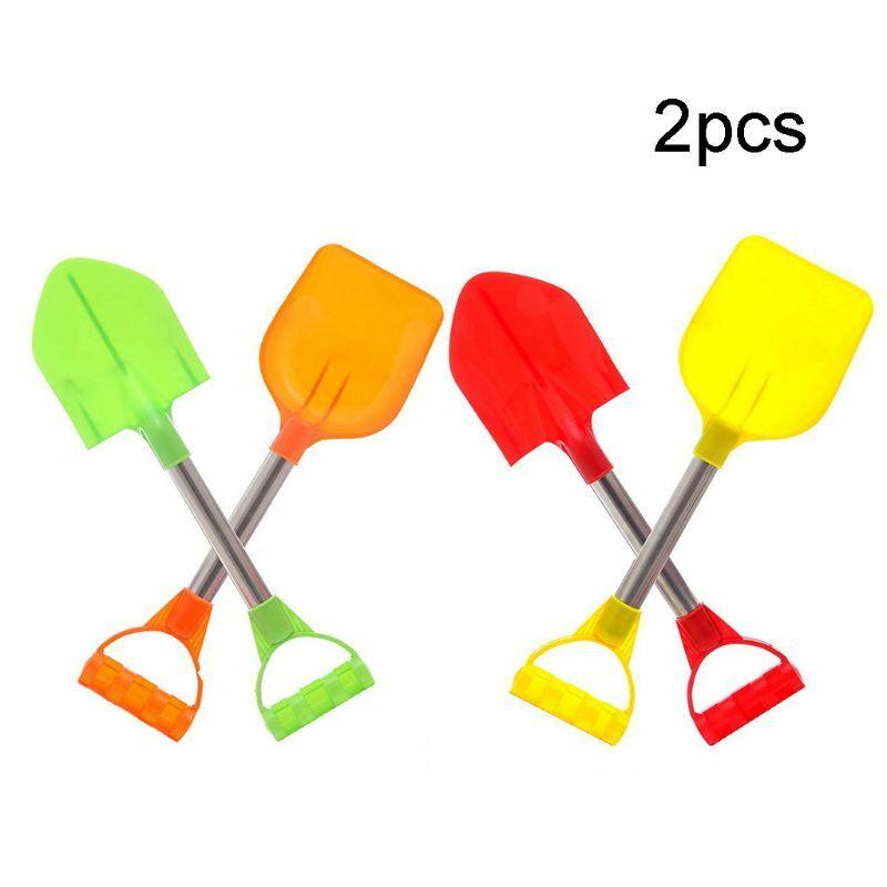 57EE 2 قطعة/المجموعة الأطفال الصيف لعبة للشاطئ الاطفال في الهواء الطلق حفر الرمال اللعب مجرفة الثلج