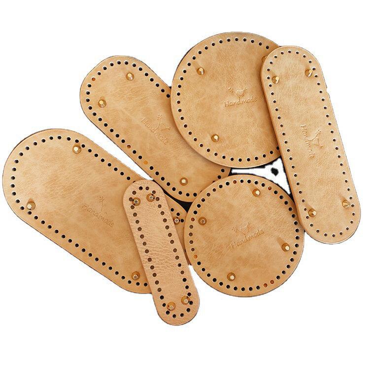 الحياكة الكروشيه بولي Leather حقيبة جلدية البيضاوي أسفل مقبض الأشرطة المشكل وسادة اليد حقيبة من القماش وسادة ل عبر الجسم صنع النساء الفتيات
