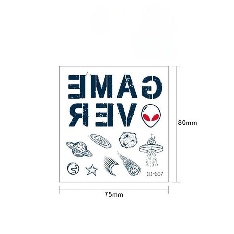شخصية إلكتروني إصبع ملصقات نمط هانا صغيرة وهمية تاتوجيس المؤقتة فلاش تاتو مقاوم للماء للنساء الرجال هيئة الفن