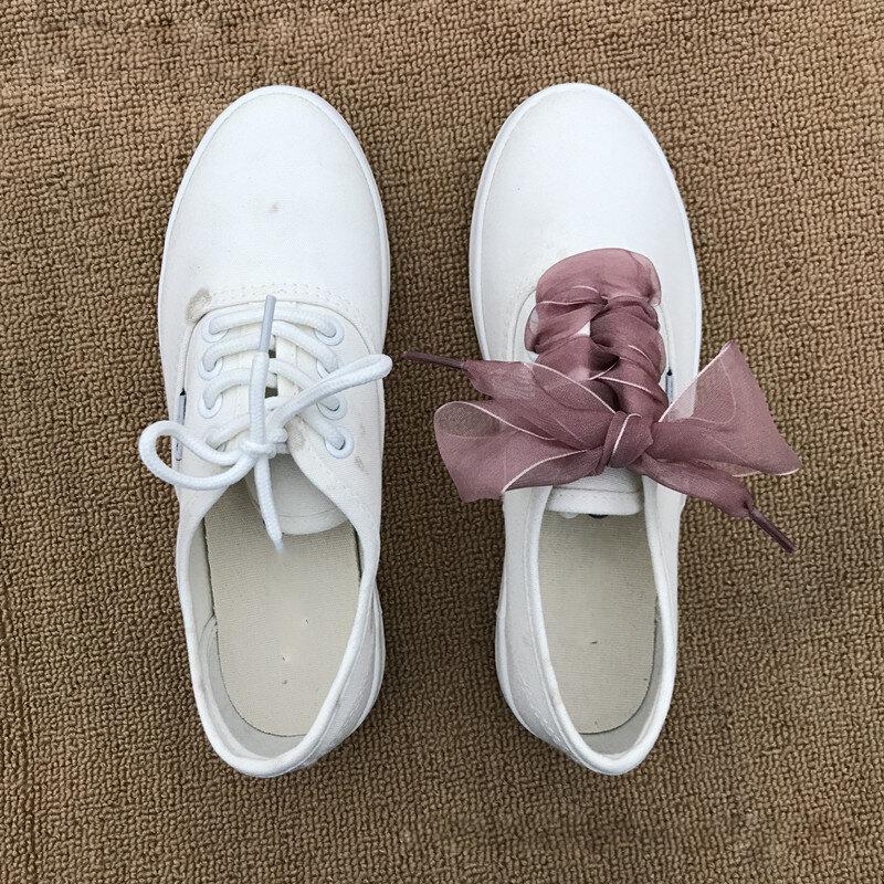 أربطة الحذاء شفافة اضافية واسعة الأحذية الكلاسيكية التعادل الأربطة أحذية حبل النساء بلون إكسسوارات أحذية 110 سنتيمتر شريط مسطح الأربطة