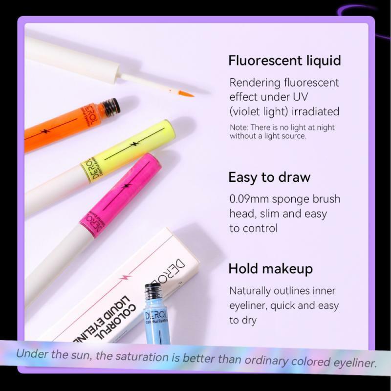 ELECOOL 8 ألوان كحل السائل العين مستحضرات التجميل قلم رصاص مقاوم للماء طويلة الأمد مثير الساحرة الجمال العين اينر القلم مجموعة ماكياج العين