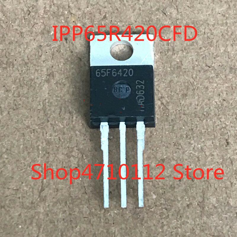 شحن مجاني جديد 10 قطعة/الوحدة IPP65R420CFD IPP65R420 65F6420 TO220