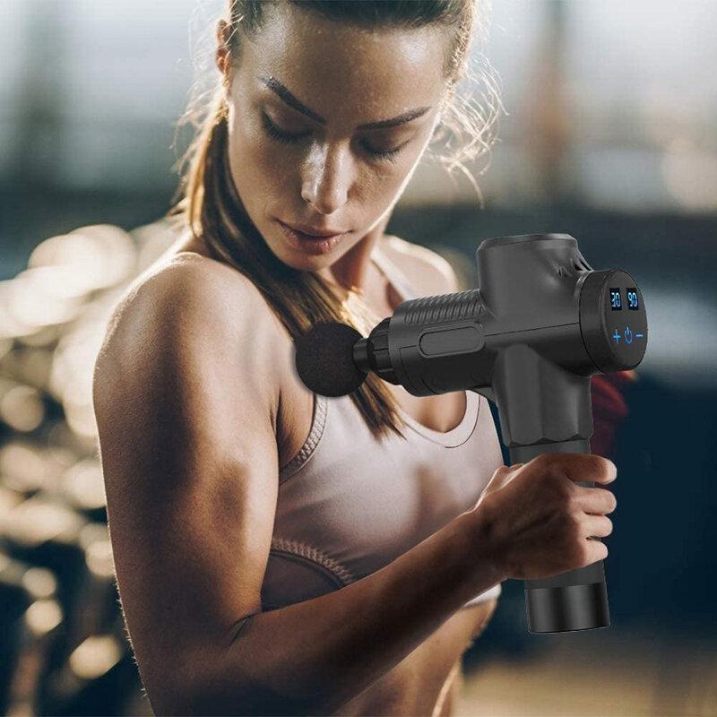 الأنسجة العميقة العضلات تدليك بندقية الجسم الكتف الظهر الرقبة مدلك ممارسة الرياضيين الاسترخاء التخسيس تشكيل الألم الإغاثة