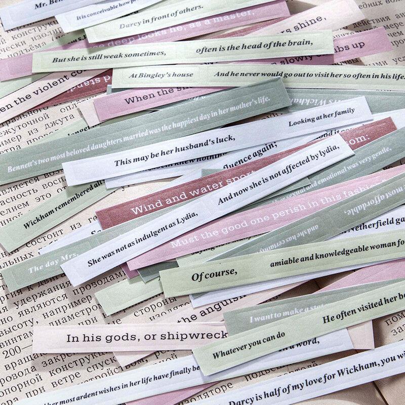 8 ورقة Vintage الإنجليزية قصيدة عبارة ملصقات التسمية غير المرغوب فيه مجلة ملصقات ملصقات الزخرفية مذكرات ألبوم سكرابوكينغ المواد