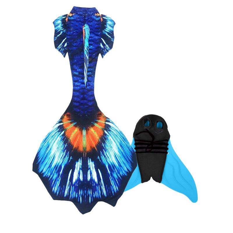 ذيل حورية البحر الفاخر للأطفال الكبار ذيل السباحة تأثيري الأطفال حورية البحر ذيول للسباحة