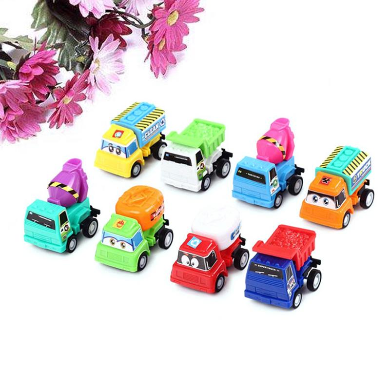 8 قطعة نماذج سيارات صغيرة الظهر لعب صندوق معبأة ألعاب تعليمية للأطفال أطفال (نمط مختلط)