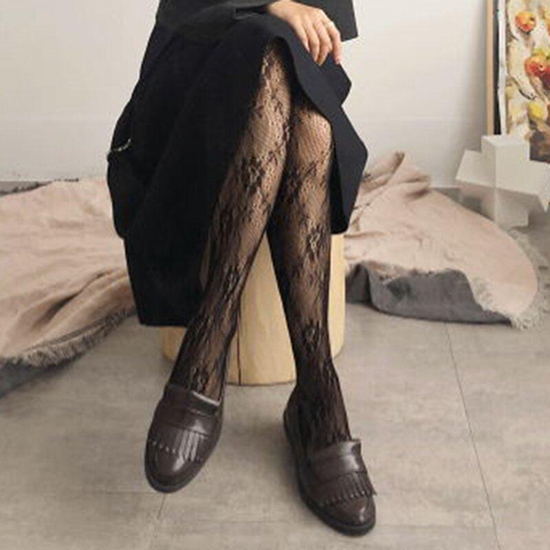 نساء مثير الدانتيل الجوارب الكلاسيكية الصغيرة البولكا نقطة القمر زهرة الحرير جوارب خمر فو الوشم جوارب جوارب طويلة الجوارب الإناث
