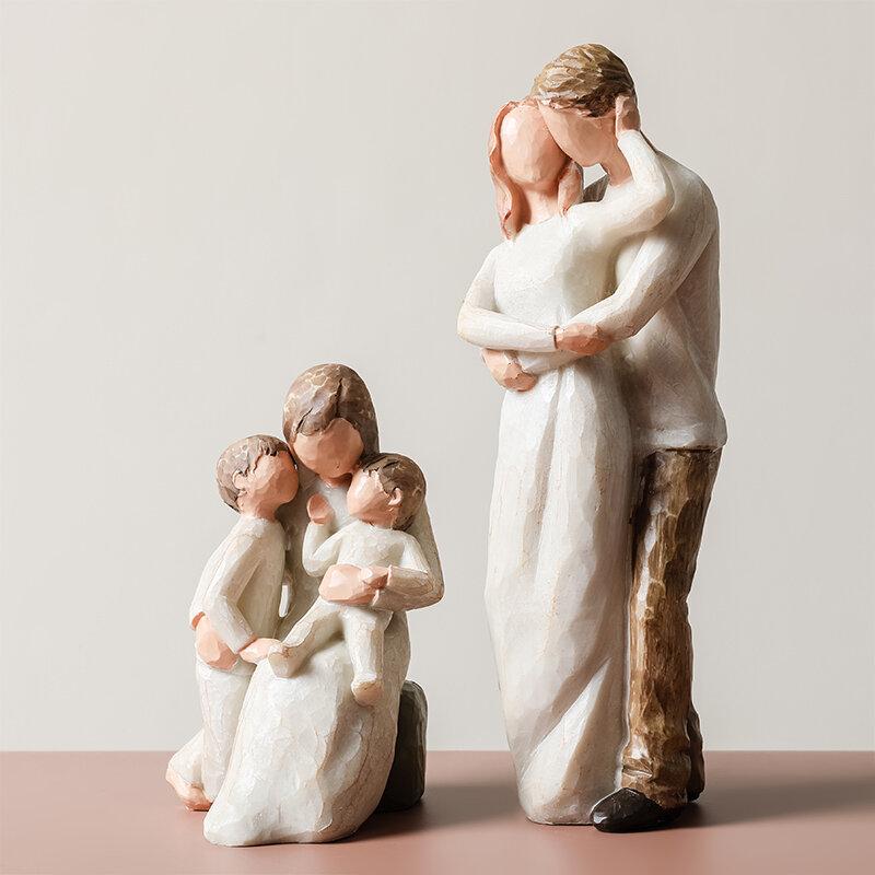 عيد الأم عيد الفصح هدية الزفاف الشمال ديكور المنزل الناس نموذج غرفة المعيشة اكسسوارات الأسرة التماثيل الحرف