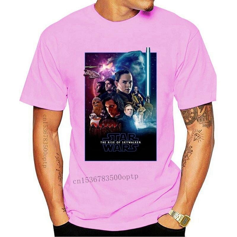جديد 2021 صعود فيلم Skywalker 2021 المشارك قميص أسود S M L Xl 2Xl أنيق نقطة انطلاق مخصصة قميص