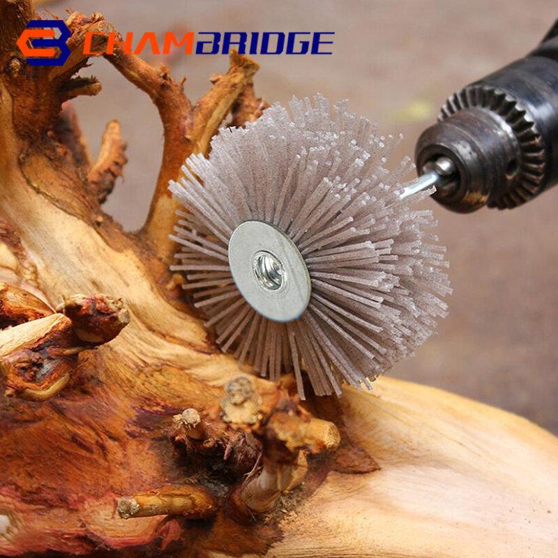 7 قطعة 80*6 مللي متر جلخ النايلون إطارات لامعة فرشاة 80 #-600 # الخشب الأثاث فرشاة تلميع للخشب البولندية طاحونة