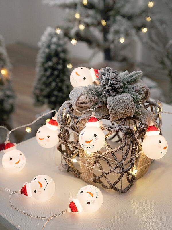1.5M 3M ثلج أضواء سلسلة جنية led سانتا led عيد الميلاد ضوء حديقة المنزل داخلي حزب الزفاف عيد الميلاد الديكور ضوء