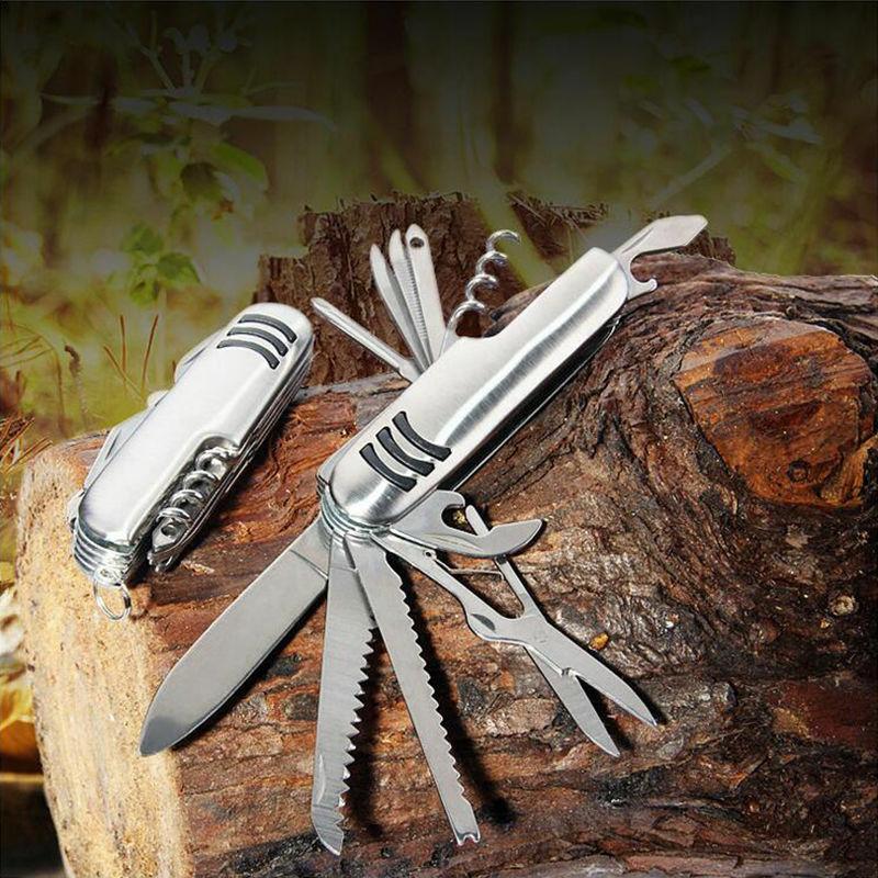 11 في 1 سكين معدات الجيش السويسري الطي Edc سكين نجاة جيب في الهواء الطلق متعددة الاستخدامات أداة متعددة الأغراض متعددة الوظائف