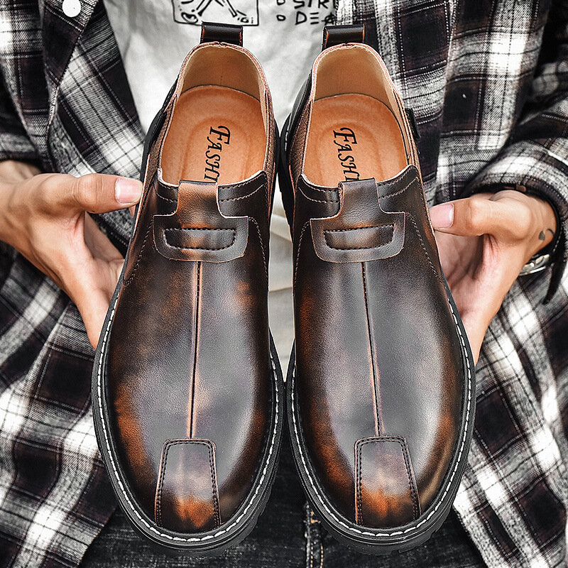 الرجال مارتن الأحذية الاتجاه الرجال الأحذية الكورية عارضة أحذية للرجال جلدية مصمم أحذية الرجال أحذية الرجال عارضة