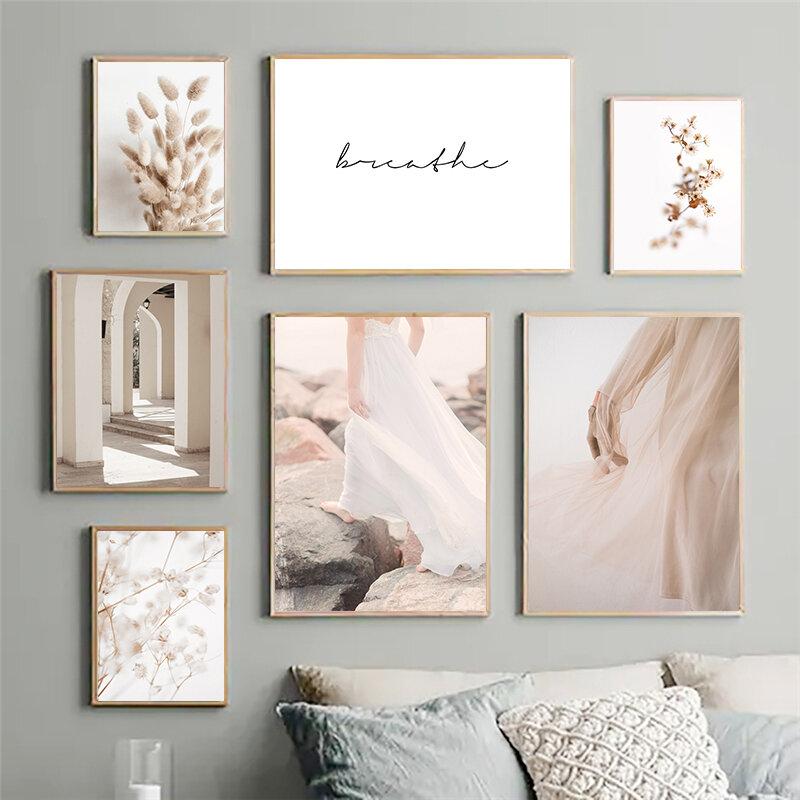الأرنب الذيل العشب ريد فتاة الشعاب طبيعة المشهد الرسم على لوحات القماش الجدارية الملصقات والمطبوعات جدار صور لغرفة المعيشة ديكور