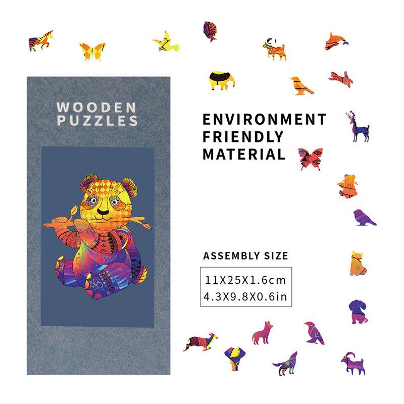 النسر لغز ثلاثية الأبعاد خشبية لغز الأطفال خشبية Crafts بها بنفسك الحرف الحيوان النمذجة الضغط اللعب الكلاسيكية اللعب الاثاث الخشبية