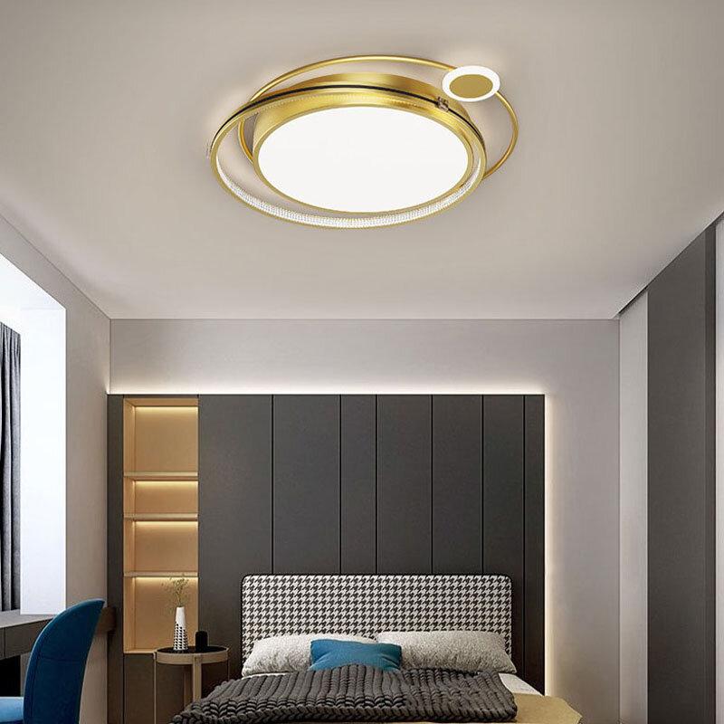 الشمال الأسود الذهب LED أضواء السقف لغرفة النوم المعيشة غرفة الطعام المطبخ المدخل المنزل الديكور الحديثة الداخلية الإنارة