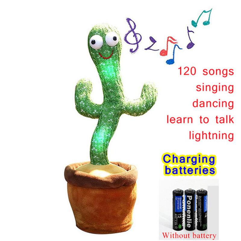 صبار الرقص 120 أغنية المتكلم يتحدث USB شحن الصوت تكرار أفخم الكاكاو راقصة لعبة الحديث بلوشي محشوة لعب لفتاة
