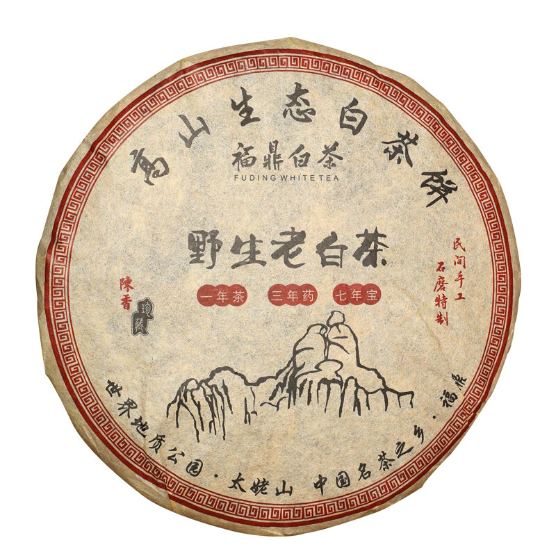 2018 الشاي الصيني شجرة القديمة شو مي الشاي الصيني الأبيض باي تشا الشاي ورقة كعكة 350g