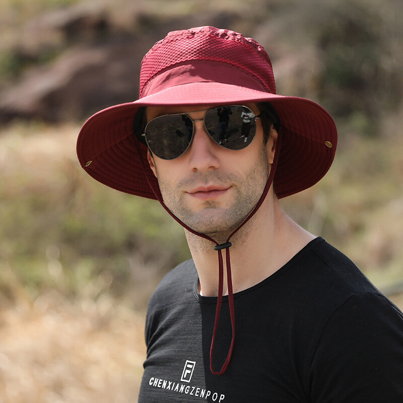 الرجال في الهواء الطلق تسلق الصيف صياد قبعة الموضة قبعة الشمس غير رسمية الرجال شاطئ الصيد قبعة الشمس