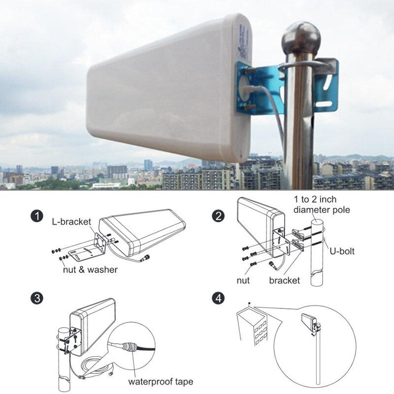 Lintratke 12dbi 10dbi الجيل الثالث 3 جرام 4 جرام في الهواء الطلق هوائي 700-2700mh N-أنثى سجل الدوري هوائي LDPA هوائي خارجي ل مكرر الداعم