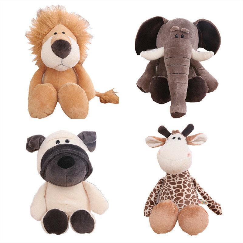 Hot البيع لطيف الكرتون غابة الحيوانات الثعلب الأسد الفيل النمر قرد الغزلان الحصان الأطفال دمية ناعمة محشوة فنجر ألعاب من نسيج مخملي هدية