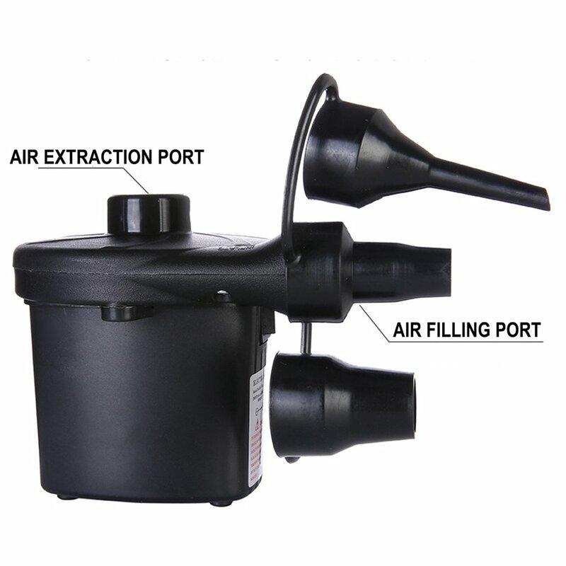 مضخة هواء كهربائية نافخة 220 فولت 12 فولت ضاغط هواء للسيارة ملء سريع pumwith 3 فوهات للتخييم العوامات قوارب مطاطية وسائد