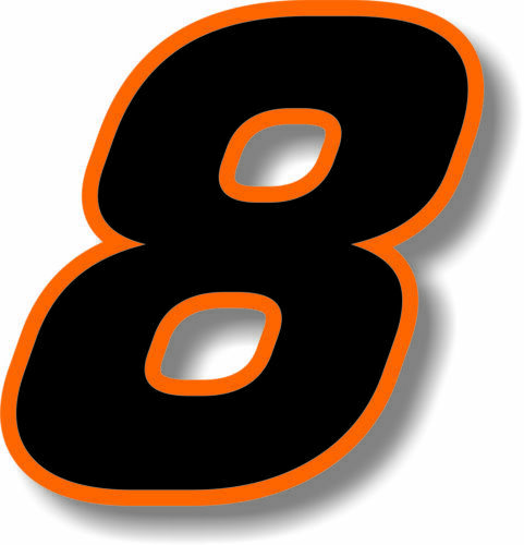 Fuzhen بوتيك الشارات الملحقات الخارجية سيارة مخصصة سباق رقم مربع الخط الأسود مع البرتقال الحدود ملصق الرسم