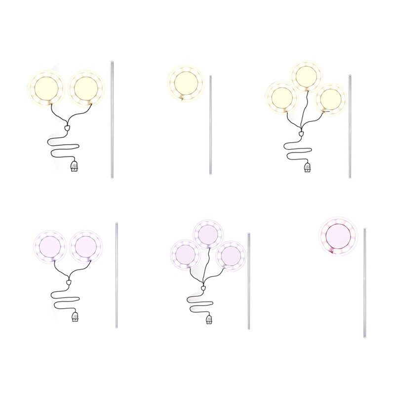 حلقة تنمو ضوء DC5V USB Phytolamp للنباتات Led مصباح الطيف الكامل للشتلات داخلي المنزل زهرة Succulet