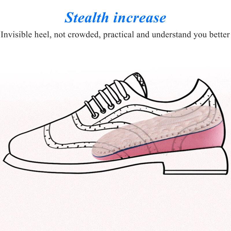 زيادة نعل 1.5-3.5 سنتيمتر غير مرئية امتصاص الصدمات تنفس الرياضة نعل حجم يمكن إدراج وسادة منصات رفع نعل