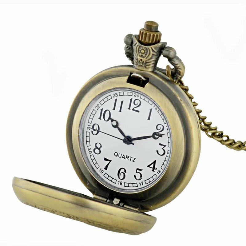 البرازيل قصة حقيقية من فرسان تمبلار الزجاج كابوشون ساعة جيب كوارتز ريترو الرجال عقد دلاية نسائية سلسلة على مدار الساعة