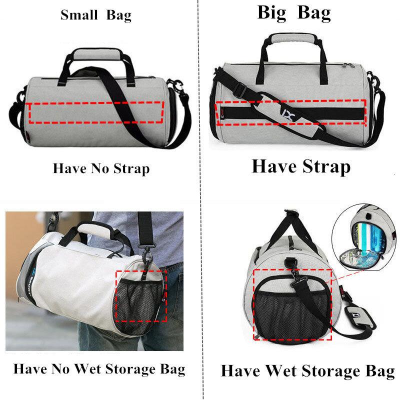 الرجال حقائب الجيم للياقة البدنية التدريب في الهواء الطلق السفر الرياضة حقيبة متعددة الوظائف الجافة الرطب فصل أكياس كيس دي الرياضة