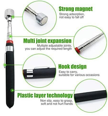 قلم التقاط مغناطيسي تلسكوبي صغير محمول سهل الاستخدام أداة لالتقاط براغي قضيب قابل للتمديد 1.5/3/10L/15LB