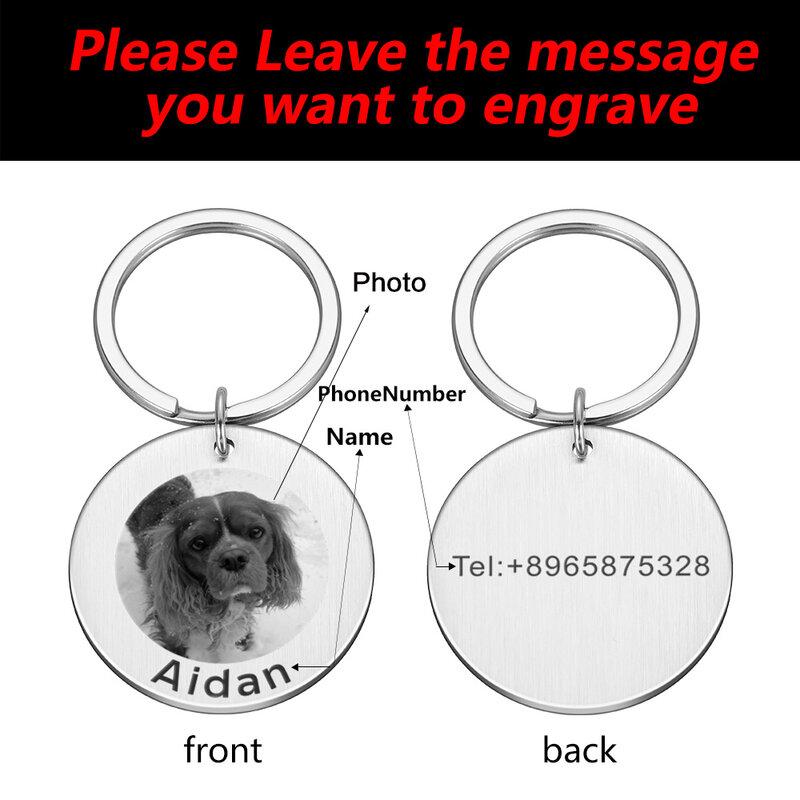 شخصية المفاتيح مخصص القط الكلب صورة معرف العلامة كوستوميد مفتاح سلسلة المفاتيح صور طوق الكلاب Keying جرو الهدايا الحيوانات الأليفة الملحقات