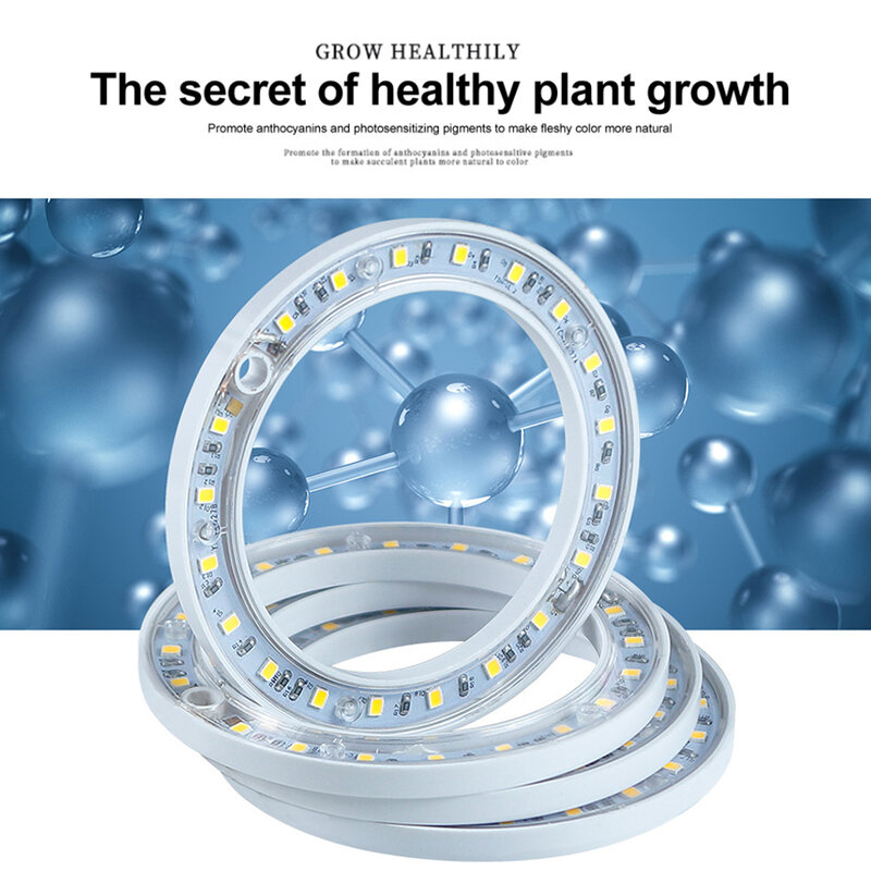 DC5V USB الملاك الدائري أشعة الشمس تنمو ضوء Phytolamp للنباتات Led الطيف الكامل مصباح داخلي شتلات النبات المنزل زهرة Succulet