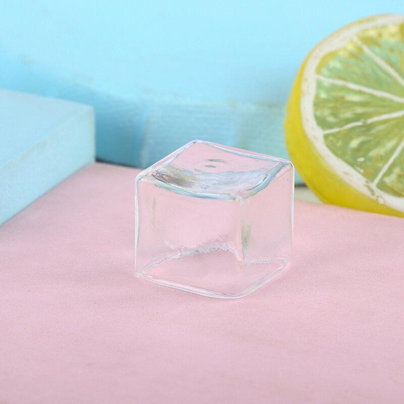 1 قطعة 20*20 مللي متر دمية مصغرة واضح مربع الزجاج وعاء تخزين جرة نموذج اكسسوارات مصغرة الزخرفية