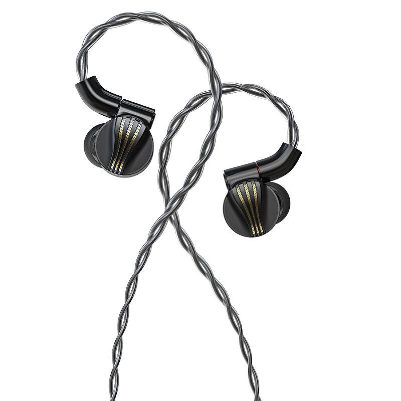 FiiO FD7 سماعات أذن داخل الأذن عالية النقاء أحادي البلورية الفضة كابل MMCX موصل 3 أنابيب الصوت القابلة للتبديل