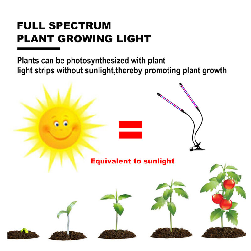 DC5V USB LED تنمو ضوء USB فيتو مصباح الطيف الكامل Fitolampy مع التحكم عن النباتات شتلات زهرة داخلي Fitolamp تنمو صندوق