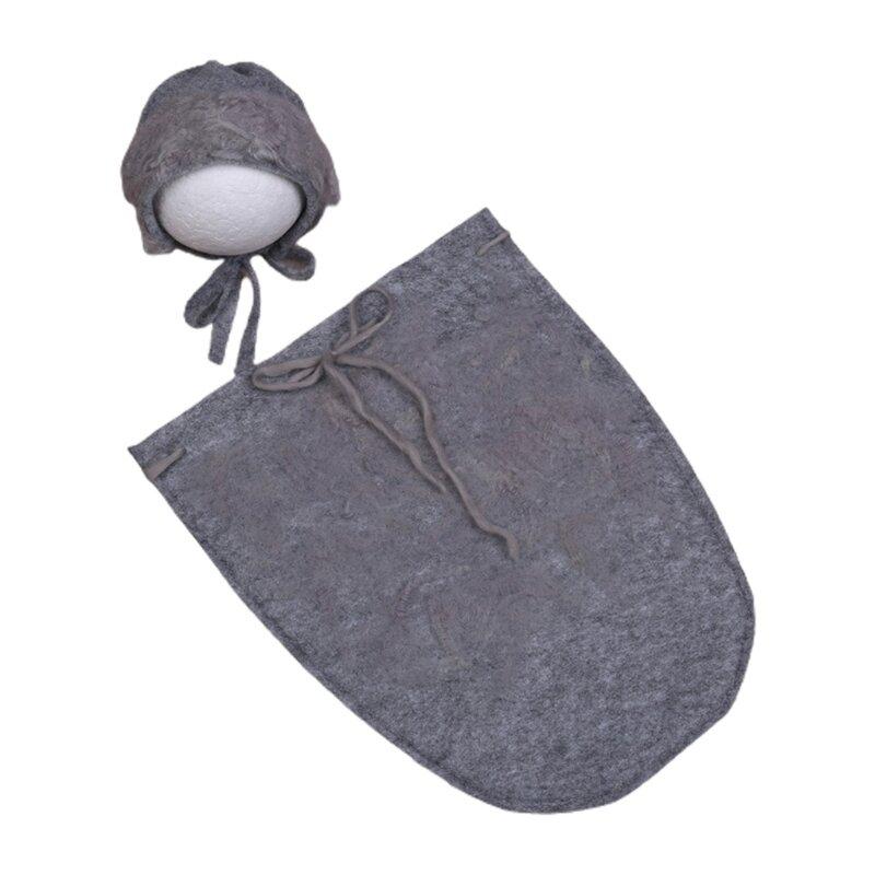 حقيبة نوم للأطفال ، حقيبة نوم ، قبعة ملفوفة ، ملحقات تصوير لحديثي الولادة ، حقيبة نوم للأطفال ، قبعة صغيرة