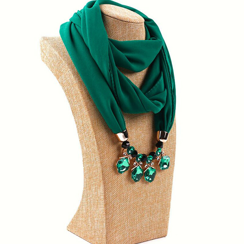 وشاح نسائي مزين بالخرز الكريستالي ، وشاح ، حجاب ، مصمم مجوهرات ، وشاح