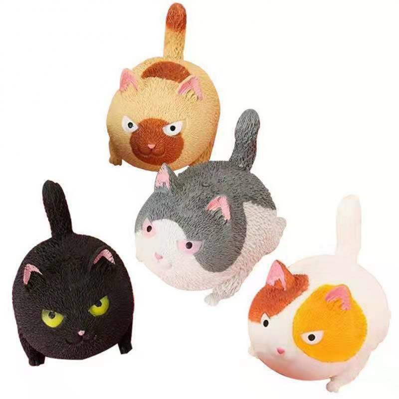 جديد الضغط غاضب القط الدمى القط الضغط ملء مسحوق معسر العجين الطلاب الضغط تنفيس تململ لعبة
