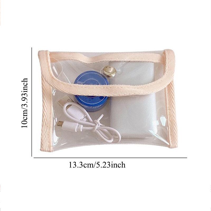 موضة محفظة نسائية للعملات المعدنية النساء شفافة المنظم Kawaii بطاقة محفظة مفاتيح حامل حقيبة التخزين الفتيات واضحة صغيرة الحقيبة اليد المحافظ