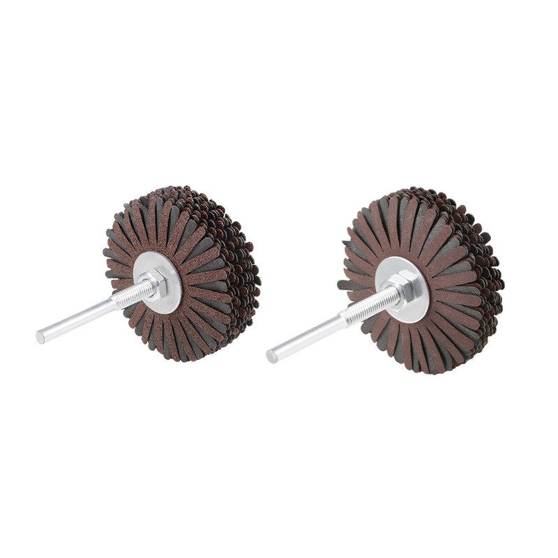 Uxcell القماش جلخ رفرف عجلة الرملي ستار 1/4 بوصة عرقوب إلى ماكينات تعدين المعادن الخشب منتجات الأجهزة أدوات