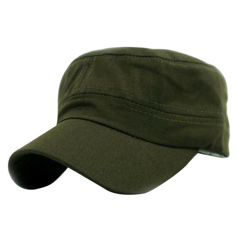 1 قطعة الرجال النساء الموضة خمسة ألوان للجنسين للتعديل النمط الكلاسيكي عادي شقة Vintage قبعة الجيش كاديت العسكرية باترول قبعة